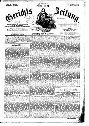 Berliner Gerichts-Zeitung vom 01.01.1895