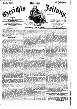 Berliner Gerichts-Zeitung vom 03.01.1895