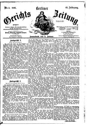 Berliner Gerichts-Zeitung vom 05.01.1895