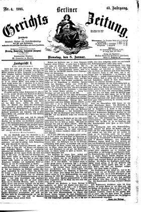 Berliner Gerichts-Zeitung vom 08.01.1895