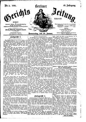 Berliner Gerichts-Zeitung vom 10.01.1895