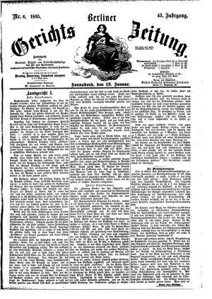 Berliner Gerichts-Zeitung vom 12.01.1895