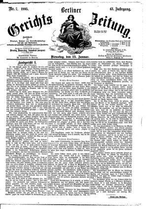 Berliner Gerichts-Zeitung vom 15.01.1895