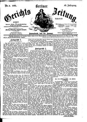 Berliner Gerichts-Zeitung vom 19.01.1895