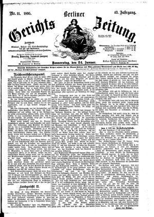 Berliner Gerichts-Zeitung vom 24.01.1895