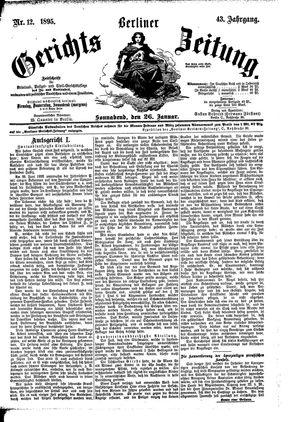 Berliner Gerichts-Zeitung vom 26.01.1895
