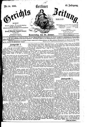 Berliner Gerichts-Zeitung vom 31.01.1895