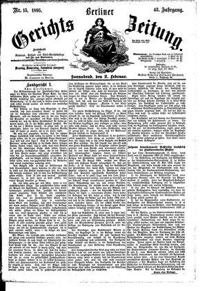 Berliner Gerichts-Zeitung vom 02.02.1895