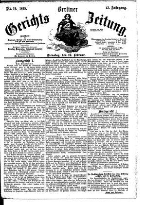 Berliner Gerichts-Zeitung vom 12.02.1895