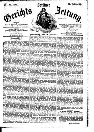 Berliner Gerichts-Zeitung vom 14.02.1895