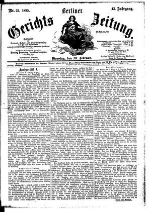 Berliner Gerichts-Zeitung vom 19.02.1895