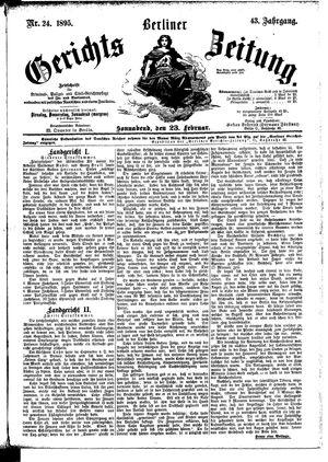 Berliner Gerichts-Zeitung vom 23.02.1895