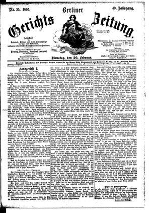 Berliner Gerichts-Zeitung vom 26.02.1895
