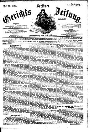Berliner Gerichts-Zeitung vom 28.02.1895