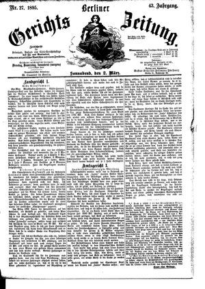 Berliner Gerichts-Zeitung on Mar 2, 1895
