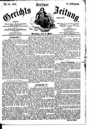 Berliner Gerichts-Zeitung vom 05.03.1895