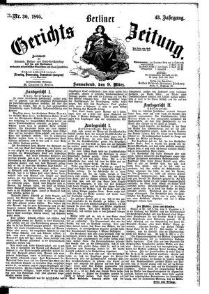 Berliner Gerichts-Zeitung vom 09.03.1895