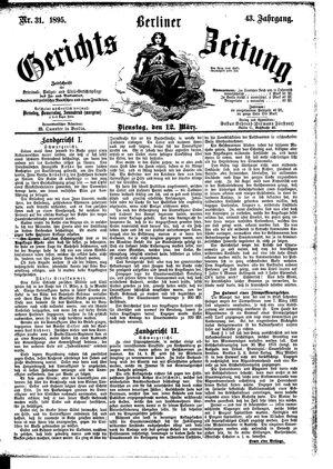 Berliner Gerichts-Zeitung vom 12.03.1895