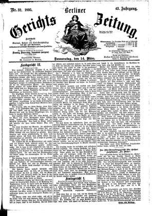 Berliner Gerichts-Zeitung vom 14.03.1895