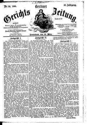 Berliner Gerichts-Zeitung vom 16.03.1895