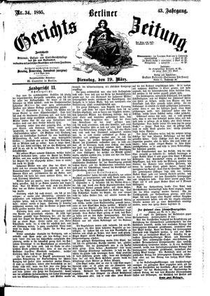 Berliner Gerichts-Zeitung on Mar 19, 1895