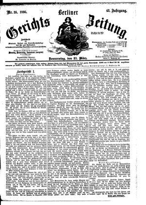 Berliner Gerichts-Zeitung vom 21.03.1895