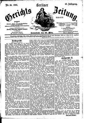 Berliner Gerichts-Zeitung vom 23.03.1895