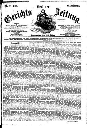 Berliner Gerichts-Zeitung vom 28.03.1895