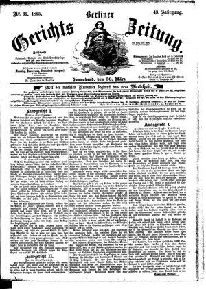 Berliner Gerichts-Zeitung vom 30.03.1895