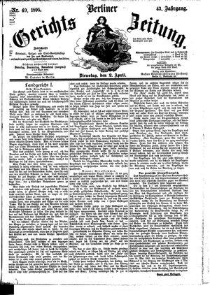 Berliner Gerichts-Zeitung vom 02.04.1895