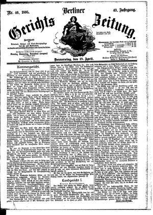 Berliner Gerichts-Zeitung vom 18.04.1895