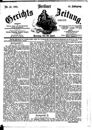 Berliner Gerichts-Zeitung vom 23.04.1895