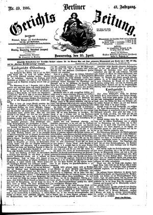 Berliner Gerichts-Zeitung vom 25.04.1895