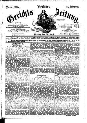 Berliner Gerichts-Zeitung vom 30.04.1895