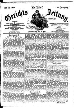 Berliner Gerichts-Zeitung vom 02.05.1895