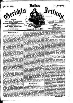Berliner Gerichts-Zeitung vom 04.05.1895