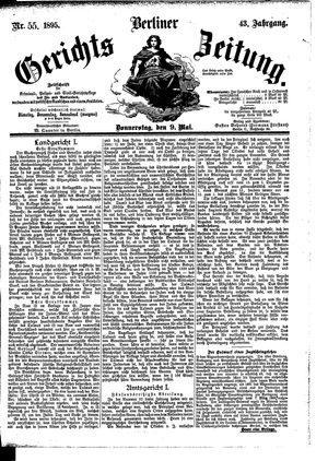 Berliner Gerichts-Zeitung vom 09.05.1895