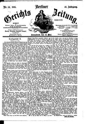 Berliner Gerichts-Zeitung vom 11.05.1895