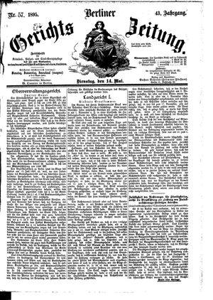Berliner Gerichts-Zeitung vom 14.05.1895