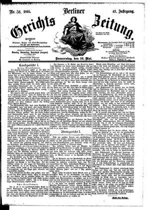 Berliner Gerichts-Zeitung vom 16.05.1895