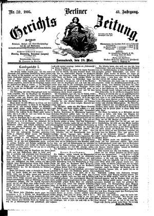 Berliner Gerichts-Zeitung vom 18.05.1895