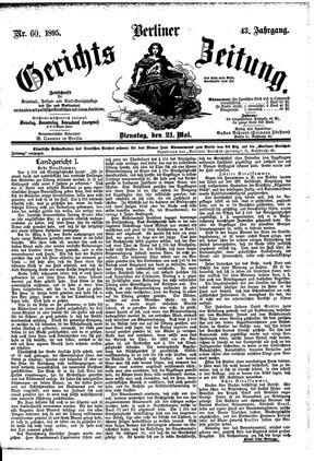 Berliner Gerichts-Zeitung vom 21.05.1895