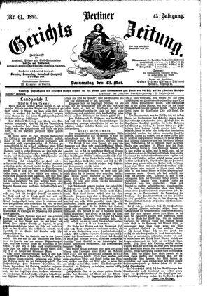 Berliner Gerichts-Zeitung vom 23.05.1895