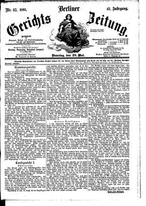 Berliner Gerichts-Zeitung vom 28.05.1895