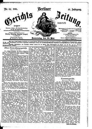 Berliner Gerichts-Zeitung vom 30.05.1895