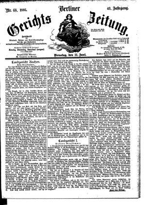 Berliner Gerichts-Zeitung vom 11.06.1895