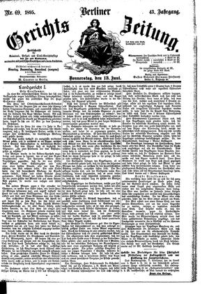 Berliner Gerichts-Zeitung vom 13.06.1895
