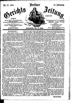 Berliner Gerichts-Zeitung vom 15.06.1895