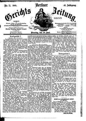 Berliner Gerichts-Zeitung vom 18.06.1895