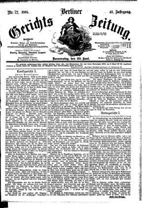 Berliner Gerichts-Zeitung vom 20.06.1895